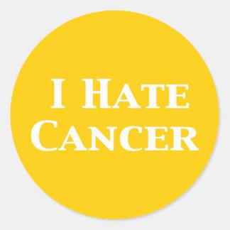Odio los regalos del cáncer pegatina redonda