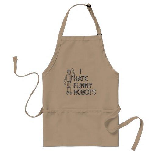 Odio los robots divertidos delantales