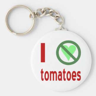 Odio los tomates llavero redondo tipo pin