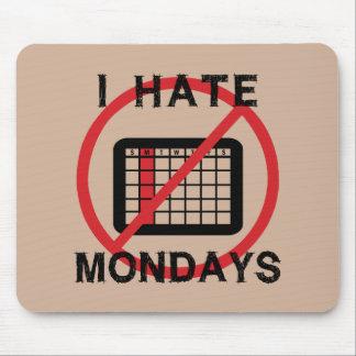 Odio lunes (el fondo ligero) tapete de ratones