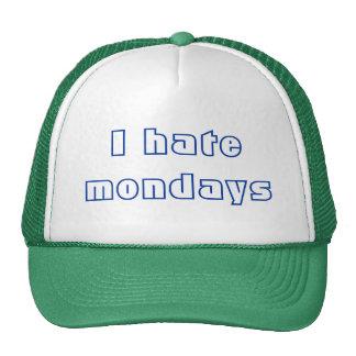 Odio lunes gorras de camionero