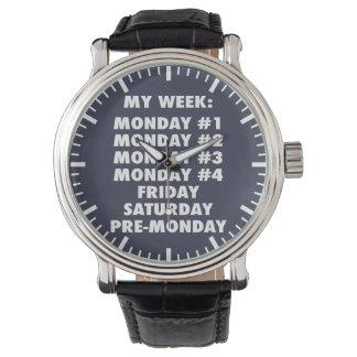 Odio lunes - novedad divertida reloj de mano