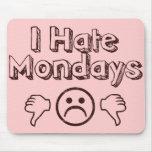 Odio lunes tapetes de ratones