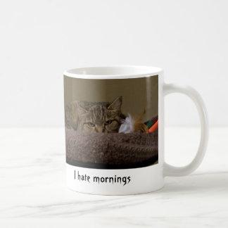 Odio mañanas taza