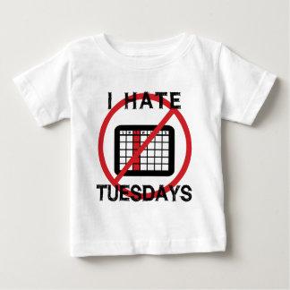 Odio martes playera de bebé