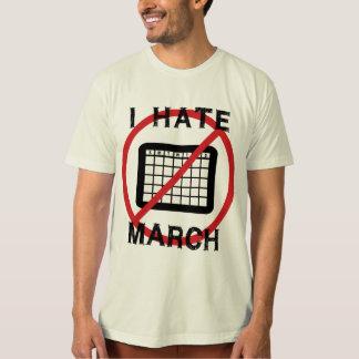 Odio marzo playera