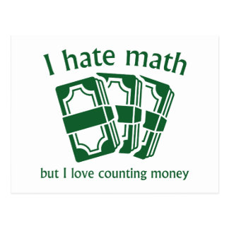 Odio matemáticas postales