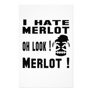 Odio Merlot. Papelería De Diseño