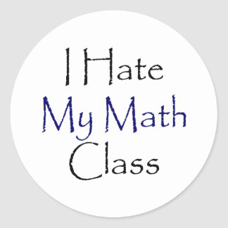 Odio mi clase de la matemáticas pegatinas
