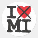 Odio MI - Michigan Etiquetas