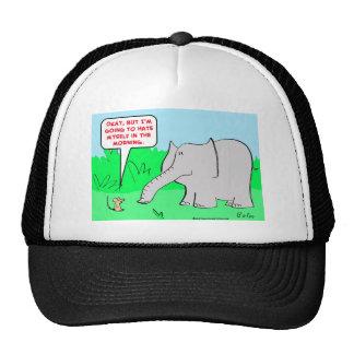 odio mismo del elefante del ratón gorras de camionero
