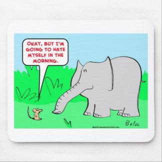 odio mismo del elefante del ratón mousepads