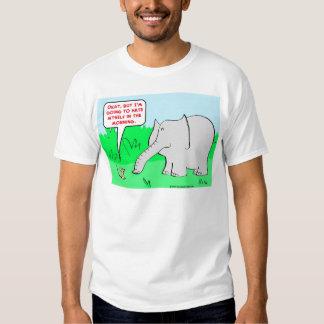 odio mismo del elefante del ratón playeras