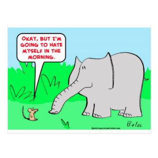 odio mismo del elefante del ratón postales