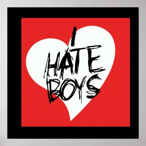 Odio muchachos póster