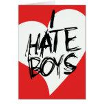 Odio muchachos tarjeta