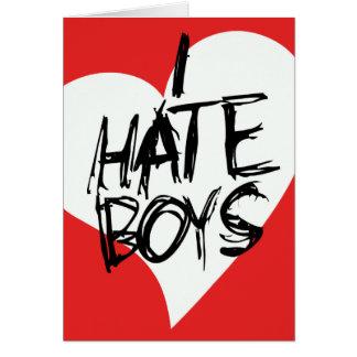 Odio muchachos tarjeta pequeña