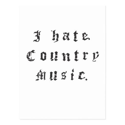 Odio música de país postal