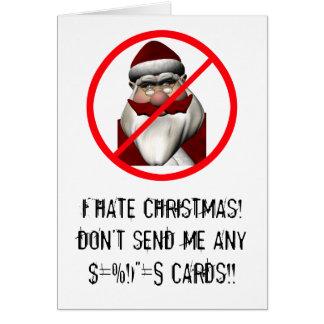Odio navidad tarjeta de felicitación