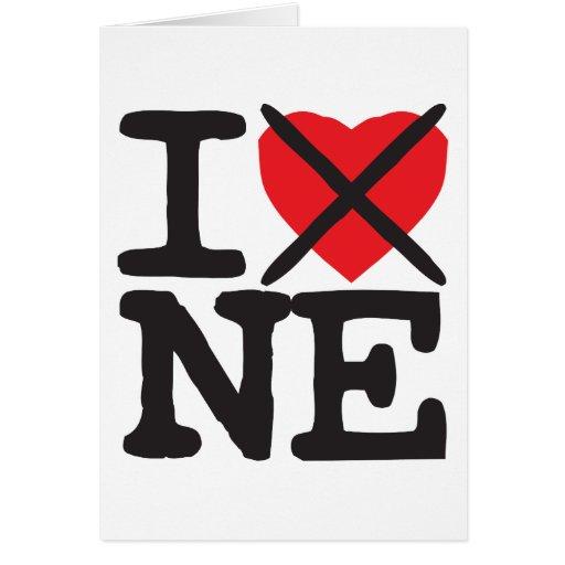 Odio NE - Nebraska Tarjeta De Felicitación