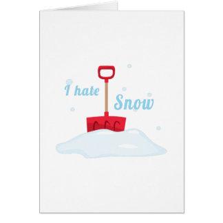 Odio nieve tarjeta de felicitación
