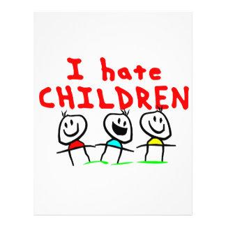 ¡Odio niños! Flyer Personalizado