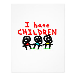 "¡Odio niños! Folleto 8.5"" X 11"""