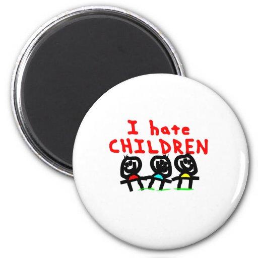 ¡Odio niños! Imanes De Nevera