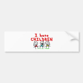 ¡Odio niños! Pegatina Para Auto