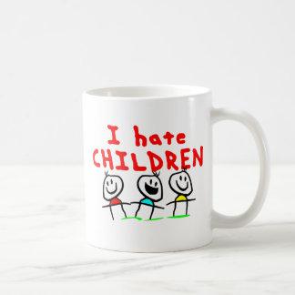 ¡Odio niños! Taza
