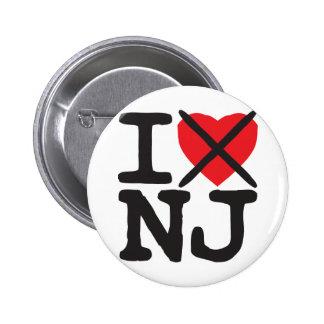 Odio NJ - New Jersey Pin Redondo De 2 Pulgadas