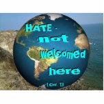 ODIO - no dado la bienvenida aquí adorne [sombread Escultura Fotografica