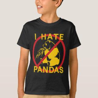Odio pandas camisas