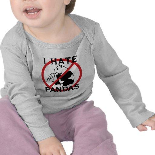 Odio pandas camisetas