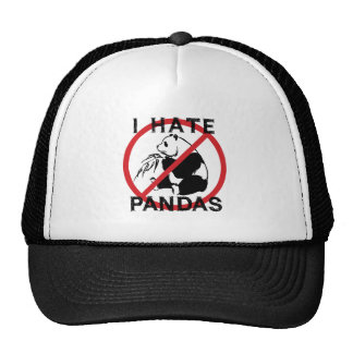 Odio pandas gorro de camionero