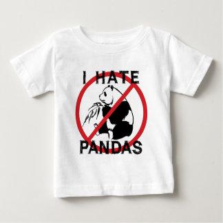 Odio pandas playera de bebé