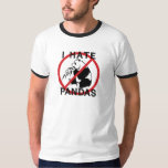 Odio pandas remera