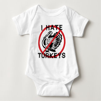 Odio pavos body para bebé