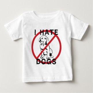 Odio perros playera de bebé