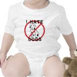 Odio perros traje de bebé