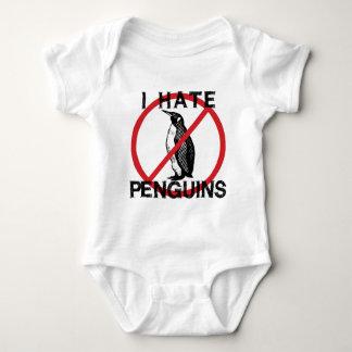 Odio pingüinos body para bebé