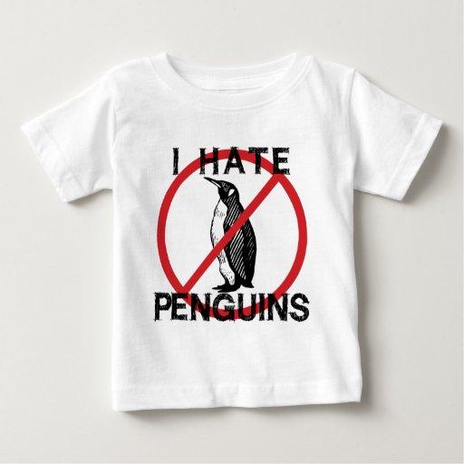 Odio pingüinos playera