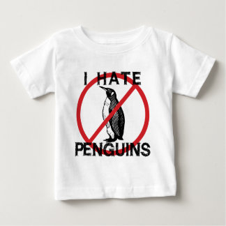 Odio pingüinos playera de bebé