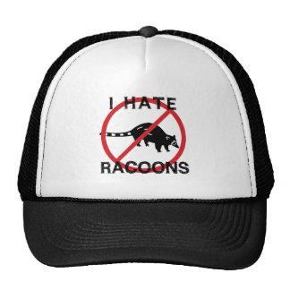 Odio Racoons Gorros Bordados