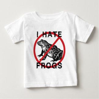 Odio ranas playera de bebé