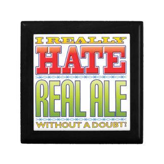 Odio real de la cerveza inglesa cajas de recuerdo