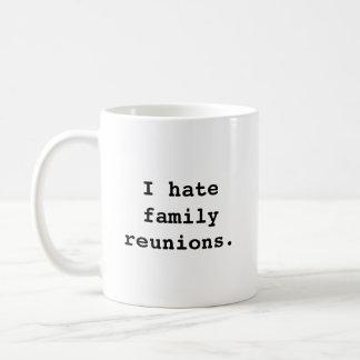 Odio reuniones de familia. taza del diseño