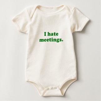 Odio reuniones mameluco de bebé