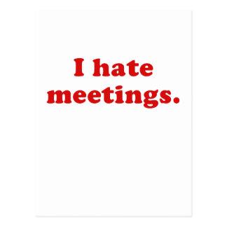 Odio reuniones postales