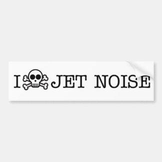 Odio ruido del jet pegatina para auto